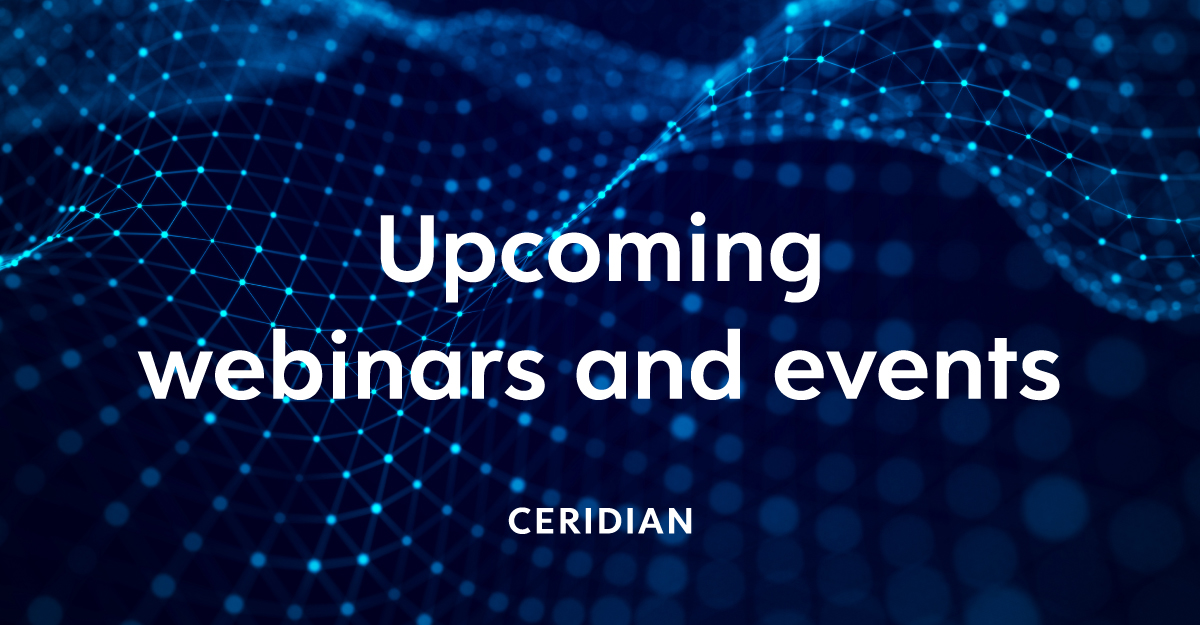Upcoming Covid 19 Related Webinars And Events Ceridian