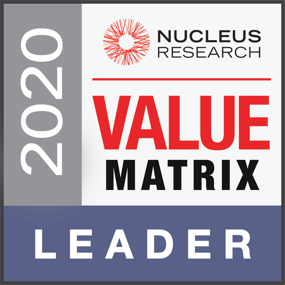 Nucleus Research Value Matrix badge
